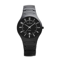 Skagen Denmark Men's Black Ceramic Watch