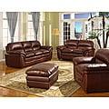 Redding Cognac 2-Piece Brown Leather Modern Sofa Set