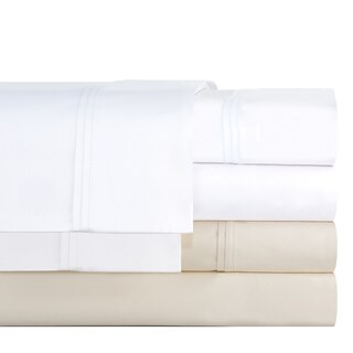 Pointehaven Cotton Blend 700 Thread Count Deep Pocket Sheet Set