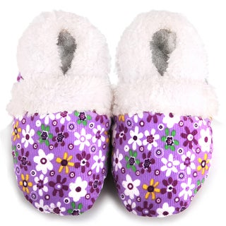 Purple Flower Soft Sole Baby Shoes