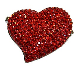 Cristiani Collezione Crystal Pave Red Heart Jewelry box