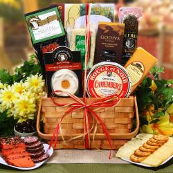 Ultimate Meat and Cheese Collection Fresh Gourmet Food Basket