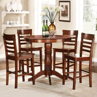 Adrienne Antique Oak 5-Piece Dining Set