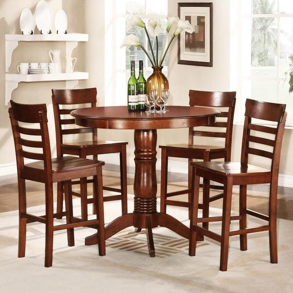 Adrienne Antique Oak 5-Piece Dining Set