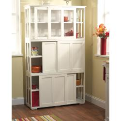 Simple Living Glass Door Stackable Cabinet 14026847