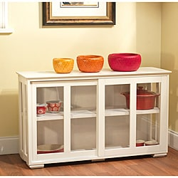 Glass Door Stackable Cabinet