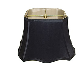 Rectangle Black Scallop Silk Shade with Gold Lining