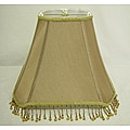 Square Tan Beaded Lamp Shade