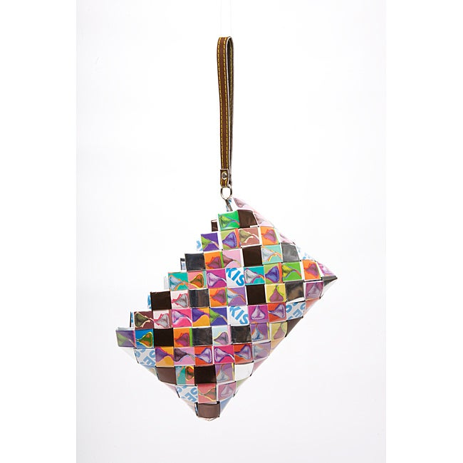 Sweet Cheeks Hershey's Kisses Wrappers Recycled Handmade Clutch