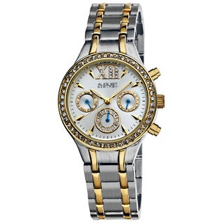 August Steiner Women's Crystal Multifunction Bracelet Watch