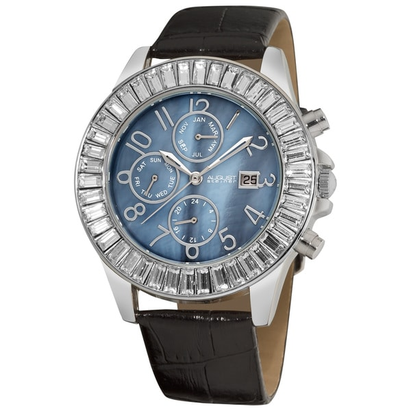August Steiner Women's Swiss Quartz Baguette Bezel Watch