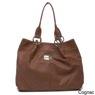 Kenneth Cole Reaction Silvertone Hardware Tote Bag