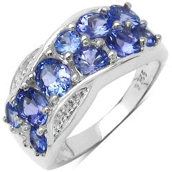 Malaika Sterling Silver Genuine Lavender Tanzanite Ring (2 1/10ct TGW)