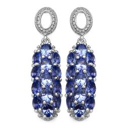 Malaika Sterling Silver Tanzanite Dangle Earrings