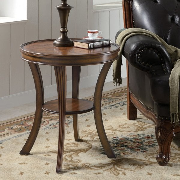 Sofia Black Inlay Top Accent End Table