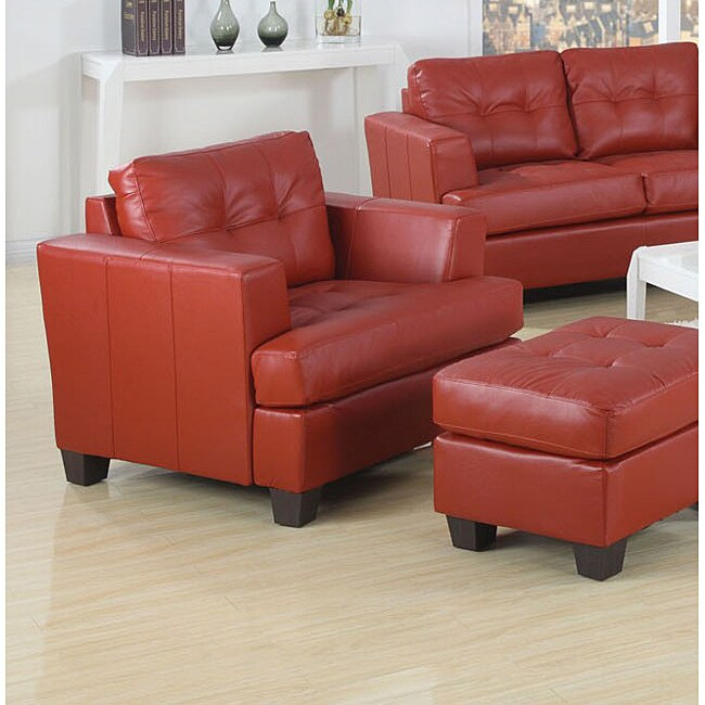 Red Bonded Leather Chair 14026945