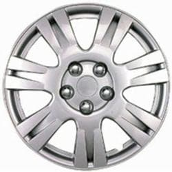 Design KT100315S_L ABS Silver 15-inch Hub Caps (Set of 4)