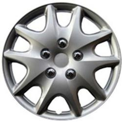 Design KT100914S_L ABS Silver 14-inch Hub Caps (Set of 4)