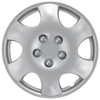 Design KT101515S_L ABS Silver 15-inch Hub Caps (Set of 4)