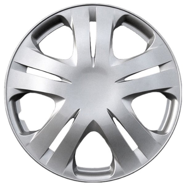 Design KT102015S_L ABS Silver 15-inch Hub Cap (Set of 4)