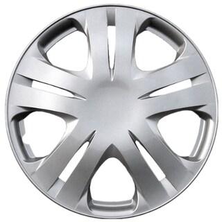 Design KT102015S_L ABS Silver 15-inch Hub Cap (Set of 4)
