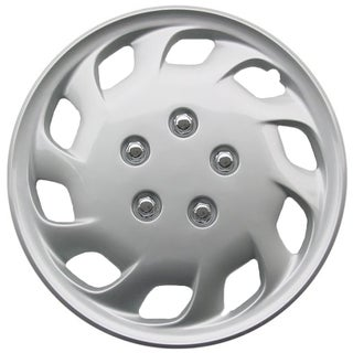 Design KT82515S_L ABS Silver 15-inch Hub Caps (Set of 4)