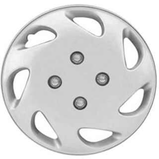 Design KT84814S_L ABS Silver 14-inch Hub Caps (Set of 4)