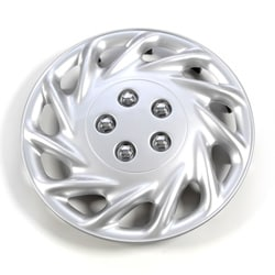 Silver 14-inch ABS Hub Caps (Set of 4)