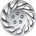 Design KT85815S_L ABS Silver 15-inch Hub Caps (Set of 4)