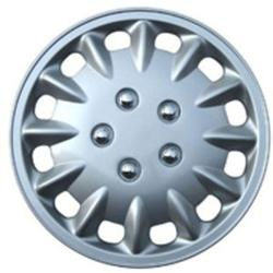Design Silver ABS Silver 15-Inch Premium Hub Caps (Set of Four)