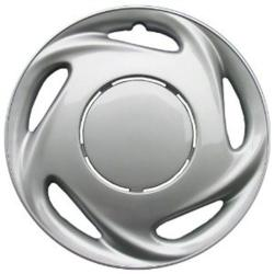 Design Silver ABS 14-Inch Hub Caps (Set of 4)