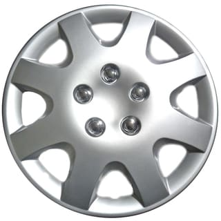 Design Silver ABS 15-Inch Hub Caps for Honda Civic (Set of 4)