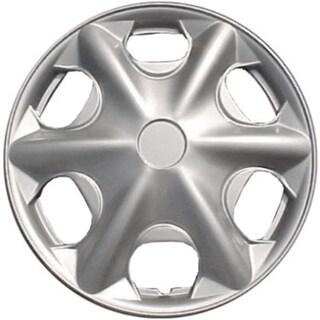 Design Silver ABS 15-Inch Premium Hub Caps (Set of 4)