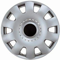 Design Silver ABS 15-Inch Silver/Black Hub Caps (Set of 4)
