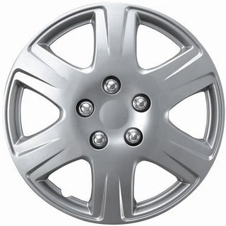 Design Silver ABS Plastic 15-Inch Premium Hub Caps (Set of 4)