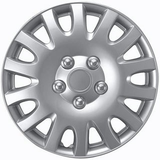 ABS Plastic 14-inch Silver Hub Caps (Set of 4)