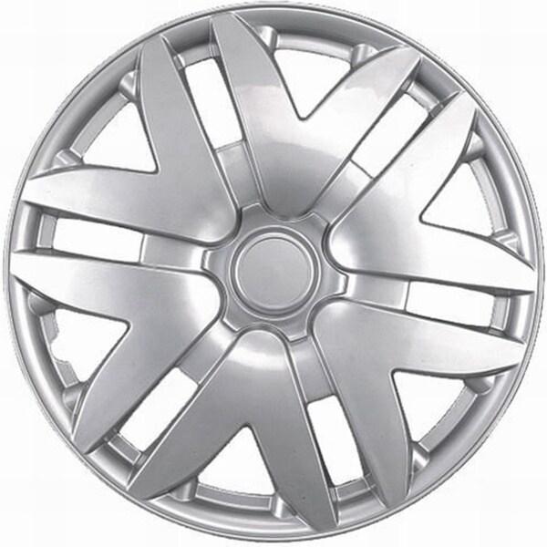 Six Split Spoke Design Silver ABS 14-Inch Hub Caps (Set of 4)