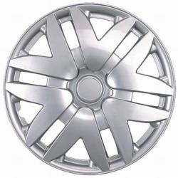 Premimum Design Silver ABS 15-Inch Hub Caps (Set of 4)