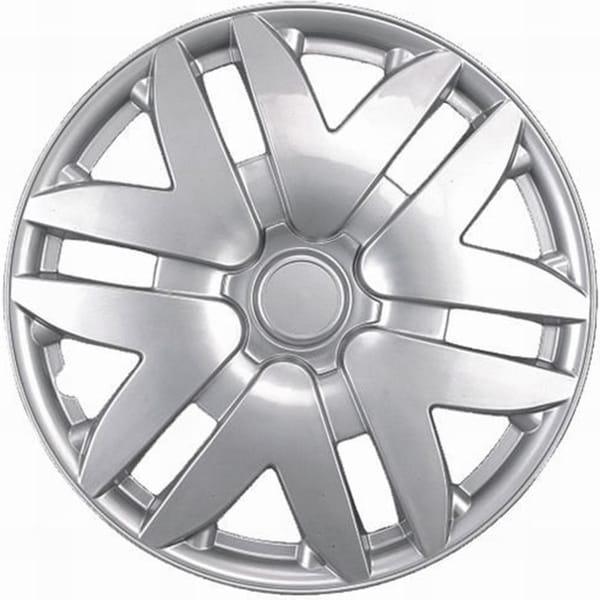 Premimum Design Silver ABS 15-Inch Hub Caps (Set of 4)