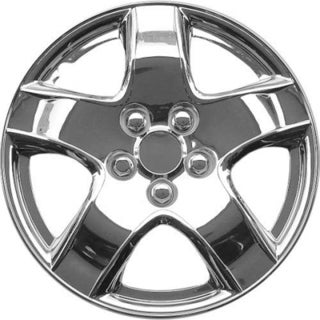 Design Silver ABS Chrome-like 15-Inch Hub Caps (Set of 4)
