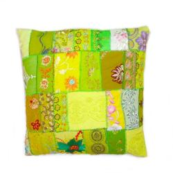 Shreya 'Auspicious' Sari Patch Pillow Case