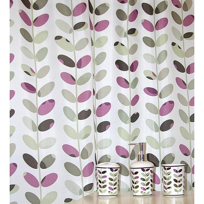 Colorful Vines Plum Bath Accessory 16-piece Set