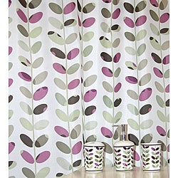Colorful Vines Plum Bath Accessory 16-piece Set
