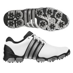 Adidas Men's Tour 360 4.0 White/ Black/ Silver Golf Shoes