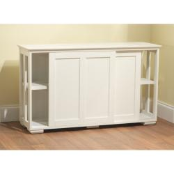Simple Living Antique White Sliding Door Stackable Cabinet 14027452