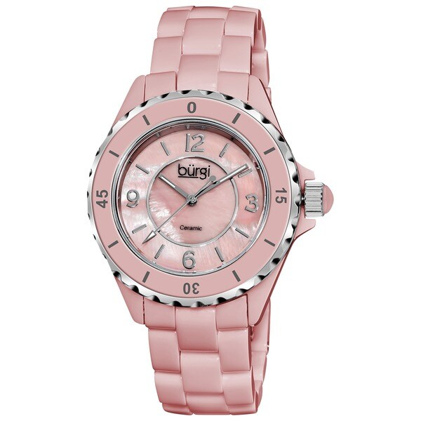 Burgi Women's Ceramic Quartz Bracelet Watch