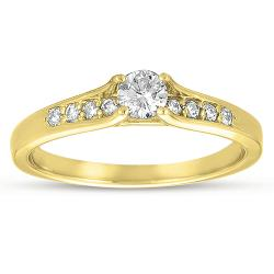 10k Yellow Gold 1/3ct TDW Diamond Promise Ring (G-I, I1-I2)
