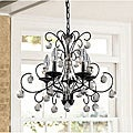 Messina 5-light Wrought Iron and Crystal Chandelier