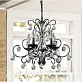Messina 5-light Wrought Iron and Cryst