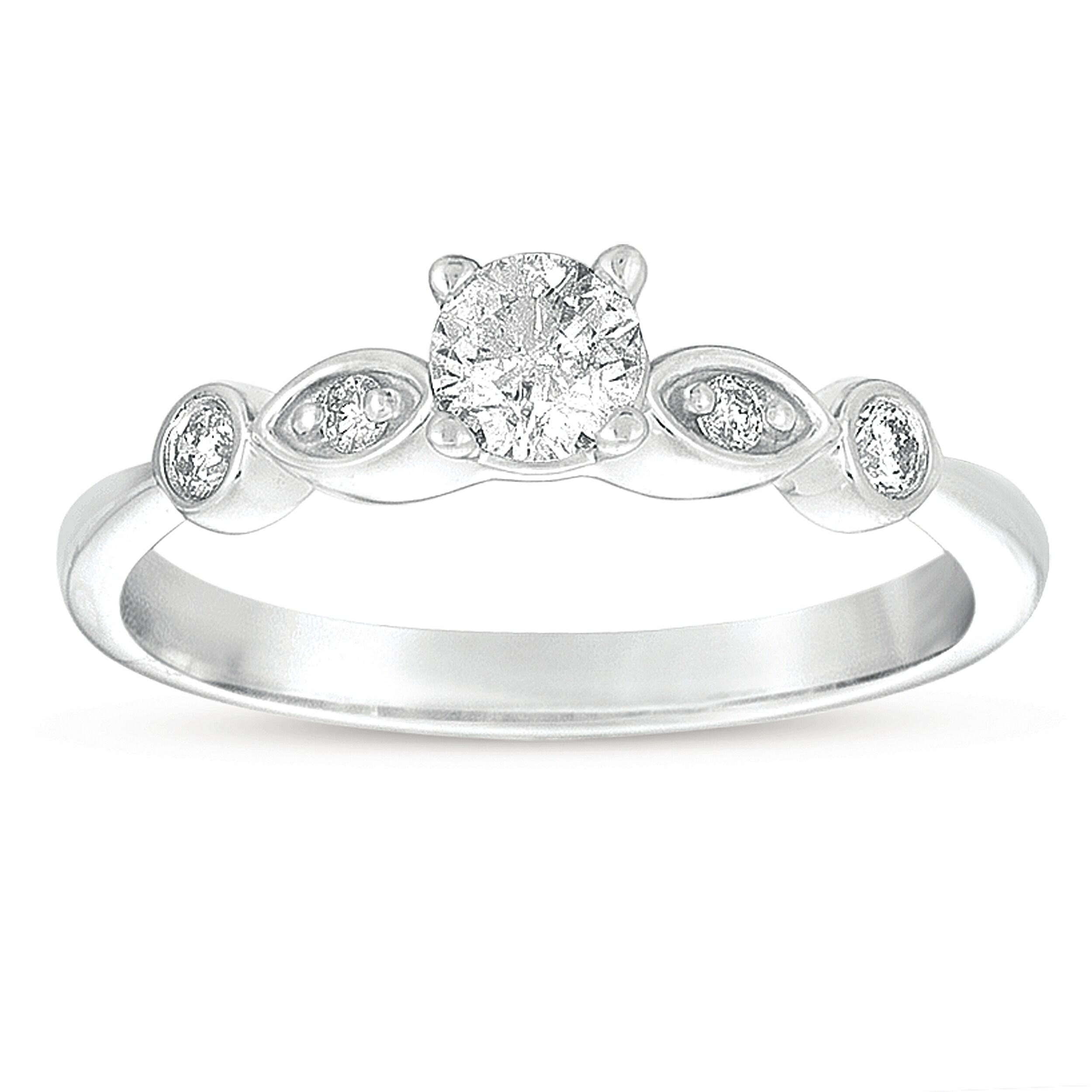 14k White Gold 3/8ct TDW Diamond Promise Ring (G-I, I1-I2)